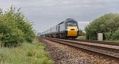 At the going down of the sun (Nodding Pig) Tags: river yeo crossing northsomerset england greatbritain uk train railway class43 dieselelectric locomotive mtu hst highspeedtrain intercity125 43198 43002 gwr greatwesternrailway thelastone 201905181778101crop