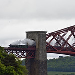 Flying Scotsman crossing the Bridge