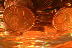 Am I rich yet? (Ronnie Gaye) Tags: copper coins euro money macromondays cent