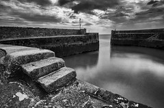 A safe haven... (Frosty__Seafire) Tags: cornwall black white landscape seascape dramatic charlestown harbour wall long exposure nikon d7000 contrast sea sky sigma 1020 south west england