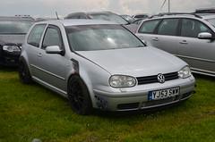 (Sam Tait) Tags: santa pod raceway england drag racing race track doorslammers vw volkswagen golf mk4 silver 3 door 18 petrol 2003 modified