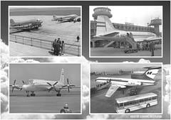 MALÉV képeslapok | Rég volt produkció | Fekete-fehér sorozat (KristofCs) Tags: malev postcard aviation airline régvolt malév képeslap repülőgép ferihegy airport budapest tu154 il18 li2 il14 tupolev ty154
