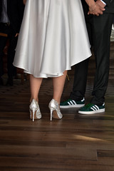 Love is in the air! (ljubistsees) Tags: heels groom white bride happy moment wedding weddingday ada adidas couple love magic