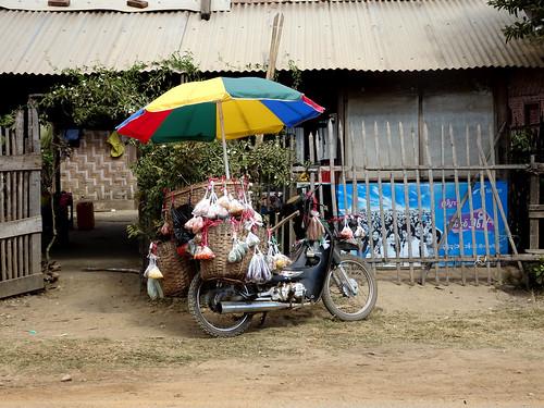 Mobile shop in Hispaw, Myanmar