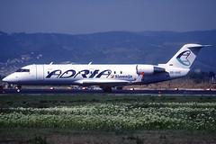 Adria CRJ-200LR S5-AAE BCN 01/04/1999 (jordi757) Tags: airplanes avions nikon f90x kodachrome kodachrome64 bcn lebl barcelona elprat bombardier canadair crj200 adria s5aae