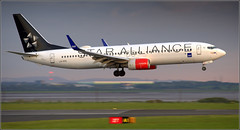 (Diverted Flight) Star Alliance Boeing 737 (LN-RRE) Liverpool John Lennon Airport 19th May 2019 (Cassini2008) Tags: liverpooljohnlennonairport starallianceboeing737 lnrre staralliance aviation