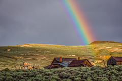 Bodie Rainbow (Jeff Sullivan (www.JeffSullivanPhotography.com)) Tags: rainbow bodie state historic park milky way american ghost town wild west mining bridgeport eastern sierra california united states usa canon 5d mark iii photo copyright 2015 jeff sullivan july abandoned rural decay monocounty hdr photomatix