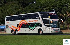 Sany Tour - 10000 (RV Photos) Tags: bus onibus doubledeck turismo br116 rodoviapresidentedutra marcopolo marcopolog7 paradiso1800dd sanytour mercedesbenz