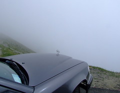You can see miles from here... (fluffnik) Tags: fujifilmfinepixs9600 tourdefrance coldutourmalet mercedesbenzw124 pyrenees