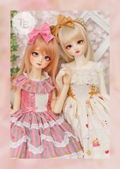 Spica & Eve (TURBOW) Tags: bjd doll balljointeddoll toy volks superdollfie sdgraffiti sdgr creamymami lieselotte dollheart dollflower