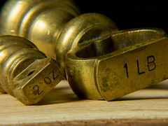 Brass Weights (Andy Sut) Tags: copper brass weights macro closeup kitchen macromondays lumix andysutton bridgecamera amateur panasonic