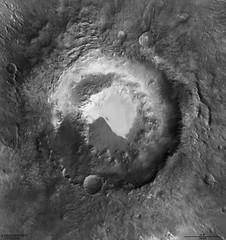 Lowell Crater Elevation, variant (sjrankin) Tags: 20may2019 edited esa europeanspaceagency mex marsexpress crater sanddunes lowellcrater mars elevation visualization ©esadlrfuberlinccbysa30igo grayscale large 1652mb