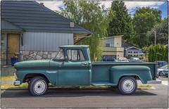 Chevrolet Apache 10 (NoJuan) Tags: chevrolet chevy chevytruck truck americanpickup pickup chevroletapache microfourthirds micro43 mirrorless olympus em1 olympusem1 olympus14150 carshow georgetown seattlewa