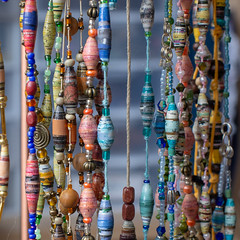 Colorful Paper Bead Jewelry (MiFleur...Thanks for visiting!) Tags: colors crafts creativity environment jewelry objects paperbeadjewelry pink recycling themes art beadmaking beading bijoux blue closeup colorful creative design fashion handicraft magazine reuse selfmade