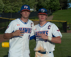 2019 Valley Park HS Seniors #9 Fischer Rausch and #3 Braden Spawr Celebrate their 3rd Consecutive District Title (bspawr) Tags: 9fischerrausch champions groundballmo ball hardware play class3district4 hardball outdoors captains highschool athlete championship vphsvshancockhs spring seniors bspawrphotography thirdbaseman winner players valleypark baseball bspawr threepeat team stlouis trophy varsity moshaa hawks boys vphs 2019 sports 3bradenspawr