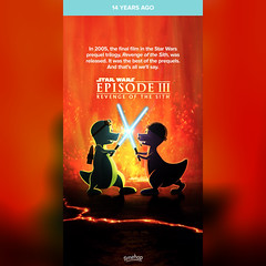 Timehop: Star Wars: Episode III - Revenge of the Sith (2005 film) (05/19/19) #timehop #abe #20thcenturyfox #georgelucas #starwarsepisode3revengeofthesith #starwarsepisode3 #revengeofthesith #epic #spaceoperafilm (iTeodoro1991) Tags: timehop abe 20thcenturyfox georgelucas starwarsepisode3revengeofthesith starwarsepisode3 revengeofthesith epic spaceoperafilm