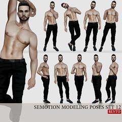 SEmotion Male Bento Modeling poses set 12 (Marie Sims) Tags: ao animations animation anim avatar animaitons animaions animated aohud animarions event 3d expression expressions emotion release review trendy trend unisex fun funny inworld onlyman man men pose posing poses photographer photosl photo ptoho mocap modeling model mood mesh male manavatar lelutka hot bento