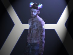 b#22 (Catlo Cyberstar) Tags: access blog blogger catwa cyberpunk event men misterrazzorbarbershop photo photoshop poses secondlife signature style tattoo vegas violetility voltair wrong