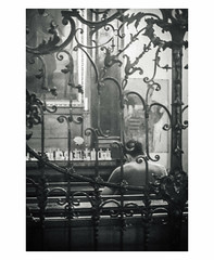 In Contemplation (Bokehneer) Tags: church prayer bw monochromatic monochrome cathedral austria vienna ironworks ornate baroque gothic