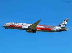 A6-BLV Boeing 787 Etihad (@Eurospot) Tags: a6blv boeing 787 7879 etihad lebl barcelona