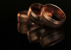 Copper (Marinda_95) Tags: macromondays macro macrodreams macromonday copper coopperrings rings ring reflections black background shiny gold bronze highlights shadows nikon photography close