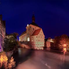 Bamberg Oberfranken (Michael P....) Tags: franken oberfranken regnitz fluss flus wasser brücke altesrathaus rathaus fachwerkhaus bamberg bayernbavaria deutschlandgermany