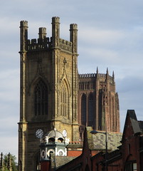 Two Towers and a Turret (White Pass1) Tags: towers liverpool renshawstrret rapidhardwarestreet stlukeschurch anglicancathedral turret church cathedral