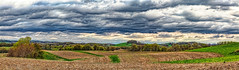 8R9A7830-33PtaMzl1TBbGERkC (ultravivid imaging) Tags: ultravividimaging ultra vivid imaging ultravivid colorful canon canon5dm3 clouds stormclouds scenic vista twilight fields farm field countryscene rural rainyday plowedfields spring view evening pennsylvania pa panoramic painterly path landscape