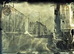 Streets of Oulu III (Sonofsono) Tags: oulu finland wet plate glass black bw white fkd largeformat longexposure ambrotype
