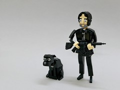 John Wick. (vincentkiew) Tags: blacksuit reeves keanu keanureeves suit beard town street techno hotel gangster police city moc peace dog action lego johnwick