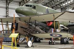 SE5 & C-47 DAKOTA IV YORKSHIRE AIR MUSEUM ELVINGTON (toowoomba surfer) Tags: aircraft aviation aeroplane museum aviationmuseum airmuseum