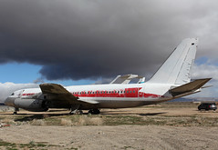 N815AJ Convair CV-880 (corkspotter / Paul Daly) Tags: n815ajconvaircv880skylarkzzzz220035ab1bf8cvnevadallc lasvegasnv196120120926n815aj2013 n815aj cn35 cn 220035 twa n828tw kmhv mhv mojave convair 880