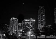 Buckhead, Atlanta (mswan777) Tags: city cityscape building architecture light night busy urban atlanta georgia travel sky white black monochrome ansel outdoor tall skyscraper apple iphone iphoneography mobile