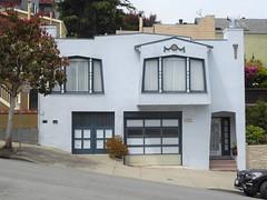 San Francisco, CA, Noe Valley, Unusual Architecture (Mary Warren 13.5+ Million Views) Tags: sanfranciscoca noevalley architecture building white house residence garage