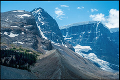 Glacial Erosion (greenschist) Tags: forest alberta mountains snow canada glacier clouds jaspernationalpark ice