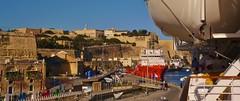 Alongside in Valletta, Malta (Ben Zabulis) Tags: europe malta valletta port harbour marine maritime nautical fareastexplorer fredolsen fredolsencruiselines travel transport cruise cruising vallettawaterfront vallettacruiseterminal moored berthed 5photosaday ship grandmasterpinto architecture baroque mvbalmoral sandstone lifeboat quay quayside