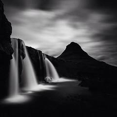 Kirkjufell (frodi brinks photography) Tags: blackandwhite frodibrinks waterfall iceland