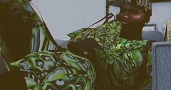 SKULL SUPREME (BAILOUT BABY) Tags: ebony supreme rare nyc bailout designer model fashion green secondlife sl secondlifestyle blog