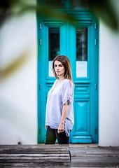 Evagelia (Vagelis Pikoulas) Tags: girl girls woman women beautiful beauty canon 6d sigma art 85mm bokeh f14 door colors athens greece 2019