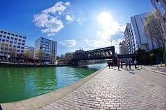530 Paris en Mars 2019 - Quai de l'Oise le long du canal de l'Ourcq à La Villette (paspog) Tags: paris france canal mars march märz 2019 canaldelourcq ourcq pont bridge brücke ruedelourcq quaideloise