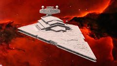 27 Imperial Star Destroyer (Kurt's MOCs) Tags: kurtsmocs kurt moc lego ldd studio povray model digital stardestroyer starwars star wars legostarwars imperial space moon planet rendering render