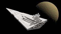 25 Imperial Star Destroyer (Kurt's MOCs) Tags: kurtsmocs kurt moc lego ldd studio povray model digital stardestroyer starwars star wars legostarwars imperial space moon planet rendering render