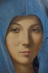 Annunciata di Antonello da Messina 1475 (Alberto Cameroni) Tags: antonellodamessina annunciata fotografarelarte milano palazzoreale sguardo leica leicaxtyp113