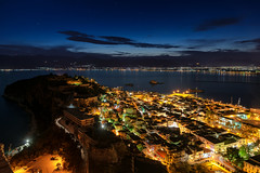 Blue hour in Nafplio (dima.travelling) Tags: bluehour cityscape nafplio greece lights seashore clouds longexposure landscape