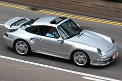 Porsche, 993 Turbo x50, Wan Chai, Hong Kong (Daryl Chapman Photography) Tags: t13664 porsche 911 993 turbo hongkong china sar wanchai pan panning auto autos automobile automobiles carspotting carphotography germancars