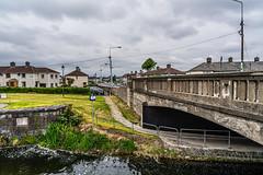MANY DUBLINERS MAY BE UNAWARE THAT THE GRAND CANAL FORKED HERE [AT SUIR ROAD BRIDGE]-152755 (infomatique) Tags: grandcanal mainline circularline canallocks davittroad suirroad suirroadbridge grandcanalharbour jamessstreet anndevlin annedevlin dolphin'sbarn portobello dublin4 riverliffey luas redline publictransport tramline griffithbridge firstlock 7thlock canals bridges williammurphy infomatique fotonique sony a7riii zeissbatis batis zeiss 25mmlens ireland