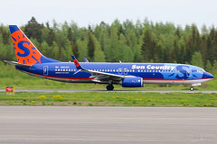 N821SY Sun Country Airlines B737-800, EFTP, Finland (Sebastian Viinikainen.) Tags: n821sy suncountry eftp finland b737800 arrow military usaf