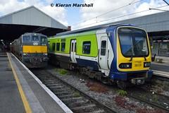 29029+29022 at Connolly, 10/5/19 (hurricanemk1c) Tags: railways railway train trains irish rail irishrail iarnród éireann iarnródéireann 2019 rpsi railwaypreservationsocietyofireland generalmotors gm emd 071 knocknarearailtour 074 1030connollysligo dublin connolly class29000 caf commuter 29029 1047connollymaynooth
