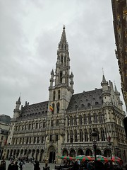 Brüssel - Rathaus (Berliner1963) Tags: belgien belgium belgique brüssel brussels bruxelles grandplace rathaus townhall architektur architecture hôteldeville stadhuis gotik mittelalter