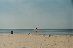 002265860020 (wu.shaolin) Tags: zenit et analog film camera exposure 50mm f2 20 kodak nature latvija latvia riga seaside girl light shadow colorful colors beautiful sea ocean calm lake lady sunbathing minimal minimalism simple sand shore